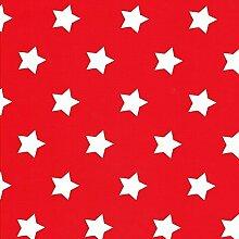 KEVKUS Wachstuch Tischdecke Meterware Weihnachten Sterne Dessin Größe Wählbar in Eckig Rund Oval (140 x 290 cm Oval, M90352 Rot)