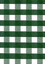 KEVKUS Wachstuch Tischdecke Rollenware 20 Meter Rolle x 140 cm Breite kariert grün 63-3