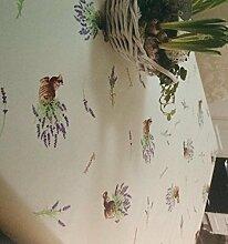 KEVKUS Wachstuch Tischdecke Rollenware 20 Meter Rolle x 140 cm Breite Lavendel K150114