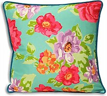 Kew Aqua Floral Cushion Cover 45 x 45