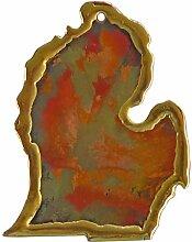 Keweenaw Gem und Geschenk, Inc. Handgefertigt Kupfer Ornament, Kupfer, Michigan Lower Peninsula Small