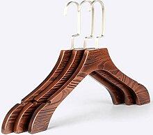 Kexinfan Aufhänger 2 Pcs/Dickes Holz Breite Schulter Holz Kleiderbügel Hochwertige Rutschfeste Anzug Anzüge Kleiderbügel, 39 Cm