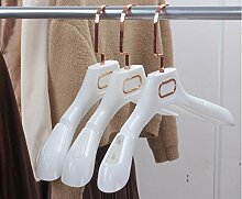 Kexinfan Aufhänger Dicken Weißen Kunststoff, Schwarz Kleiderbügel Mit Gold Überzogen, Meine Damen Stil, 8 Stück/Stück, Weiß
