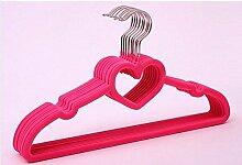 Kexinfan Aufhänger Valentinstag Aufhängung/Sweatwear Herzen Kleiderbügel (24 Stk./Stück), Pink