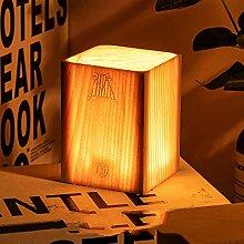 Keyle Tischlampe aus Holz, künstlerische