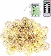 KEYNICE 105 LEDs Warmweiß Kugel Lichterkette Glühbirnen Außen Innen Kupferdraht Freienschnur Birne Ideale Deko IP65 wasserdicht Weihnachtsbeleuchtung für Weihnachten/Hochzeit/Party mit Batterie