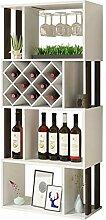 KFDQ Home Bar Weinglas Rack Cabinet