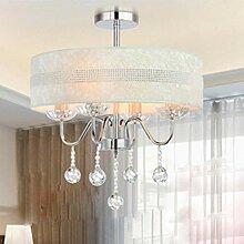 KFGNBS Kristallleuchter mit 3 Stück E14 Lights