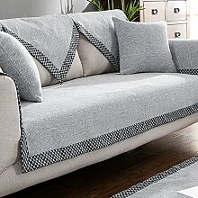 KFHIWUEHPJHD Solid Color Baumwolle Sofa Cover