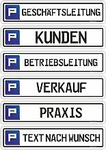 KfZ-Kennzeichen zur Parkplatzreservierung