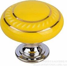 Kfz-Keramik-Griffe, 1 Loch, rund, Möbel-Hardware,