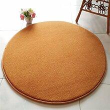Khaki runde Schlafzimmer Teppich einfache hängende Stühle Rattan Stuhl Computer Stuhl Drehstuhl Nachttischdecke Wohnzimmer Couchtisch Matten ( Farbe : 65cm )
