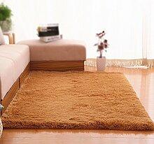 Khaki Rutschfeste Teppich / Wohnzimmer Sofa Couchtisch Schlafzimmer Teppich Bettdecke / Dicker Haarlänge 4,5 cm Home Massiv Teppich ( größe : 160*230cm )