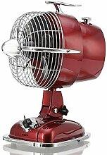 KHAPP Retro Ventilator klein in Rot, Tischventilator JET mit 3 Geschwindigkeitsstufen, kleiner Standventilator im 50er Jahre Design