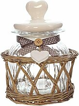 khevga Glas-Bonboniere im Landhaus-Stil Füllmenge