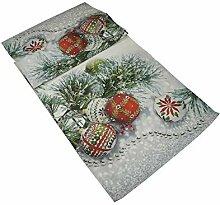 khevga Tischläufer Weihnachten Christbaumkugel
