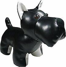 khevga Türstopper Leder-Optik Tier Hund schwarz weiß