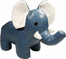 khevga Türstopper Tier Kunstleder Elefant Grau