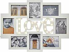 KHG Bilderrahmen Collage Weiß 13x18