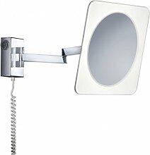 KHL LED Wandspiegel Kosmetikspiegel mit Beleuchtung 3,3W IP44 Badezimmer Schalter