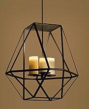 KHSKX 3 Eisen Leuchter Lampe schwarz Kronleuchter