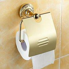 KHSKX 304 Edelstahl verchromt Wandmontage antiken Toilettenpapier Gewebe Boxen-Bad-Accessoires
