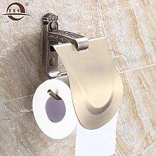 KHSKX Antike falten Qing bronze Handtuchhalter, Handtuchhalter bad Toilettenpapierhalter, europäischen Stil Badezimmer Badezimmer Doppel Glas Regal wc Handtuchhalter Ring , E