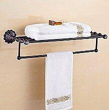 KHSKX Antike Handtuchhalter Handtuchhalter schwarz