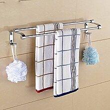 KHSKX Bad rack Handtuchhalter Edelstahl Handtuchhalter Handtuchhalter 2-metall bad accessoires badezimmer Zubehör