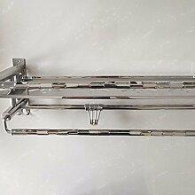 KHSKX Badezimmer Zubehör 304 Edelstahl Handtuchhalter hohen standard Badezimmer Handtuchhalter doppelt gepolstertes Kleiderbügel