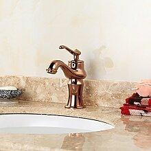 KHSKX-Becken hochwertige Armaturen Antique Pink Gold eine einzelne Cu Alle im Europäischen Stil