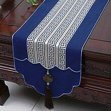 KHSKX chinesische jade gravey gartentisch flagge, tischdecken, kaffee, tischdecken, bett - flagge, kabinett flagge, tabelle matte, langen tisch tuch,j,33 * 230cm