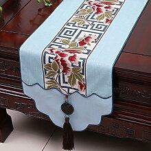 KHSKX chinesische jade gravey gartentisch flagge, tischdecken, kaffee, tischdecken, bett - flagge, kabinett flagge, tabelle matte, langen tisch tuch,g,33 * 200