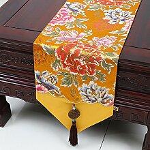 KHSKX chinesische jade table tabelle flagge, mode einfach garten tischdecken, kaffee, tischdecken, bett - flagge, tischdecken, brokat tapete,c,33 * 180