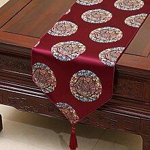 KHSKX chinesische pastoralen tabelle flagge, europäische tischdecken, kaffee, tischdecken, bett - flagge, kabinett flagge, tabelle matte, langen tisch tuch,d,33 * 230cm
