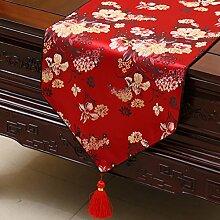 KHSKX chinesische pastoralen tabelle flagge, tischdecken, kaffee, tischdecken, bett - flagge, kabinett flagge, tabelle matte, langen tisch tuch,s,33 * 200