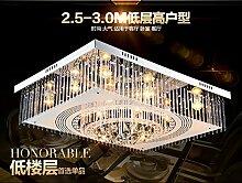 KHSKX Crystal Light flat Niederdrucklampen LED Schlafzimmer Esszimmer Wohnzimmer Projekt Lampe 60*40cm