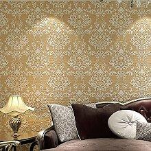 KHSKX D-Vlies-Tapete Wohnzimmer TV Hintergrundwand europäischen Stil Tapeten Schlafzimmer 10 m * 0 53 m A