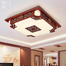 KHSKX Deckenleuchte,40W Licht, moderne chinesische Lampe Deckenlampe Lampe Wohnzimmer rechteckige chinesische klassische Schlafzimmer Lampe geführt Beleuchtung 560 * 120mm