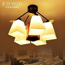 KHSKX Deckenleuchte,5 amerikanisches Restaurant Wohnzimmer Schlafzimmer Schlafzimmer Lampe Wohnzimmer Lampe Leuchte Lampe chinesischen Stil Bibliothek Deckenleuchten 560 * 400mm