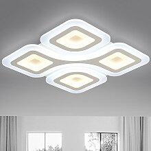KHSKX Deckenleuchte,Rechteckige LED Lampe schöpferischen Persönlichkeit einfach warm Studie Lampe Schlafzimmer Esszimmer Wohnzimmer Lampe Lampen , 62*62cm