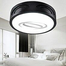 KHSKX Deckenleuchte,Runde LED Lampe Schlafzimmer Licht romantische kleine Lampe Eisen Arbeitszimmer Wohnzimmer Lampe Beleuchtung 500 * 110mm