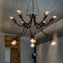 KHSKX der wind anhänger lampe kleiderausgabe, hotel studio, retro - kronleuchter, persönliche kreative eisen - lich