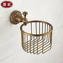 KHSKX Die Europäische antike Kupfer Handtuchhalter Handtuchhalter Badezimmer Handtuchhalter Metall Anhänger Stil Handtuchring WC Bürstenhalter kleiderhaken Rack , M