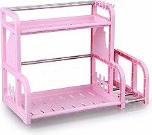 KHSKX double - deck regal, multifunktionale storage rack, küche würzen rack,b
