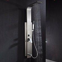 KHSKX Dusche Brauseset, heiße und kalte Dusche Bildschirm, die Gesamtheit der Kupfer-Armatur, 304 Edelstahl Dusche