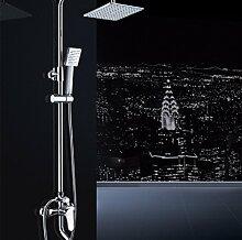 KHSKX Dusche-Dusche gesetzt, All-Kupfer-Armatur, Badezimmerdusche