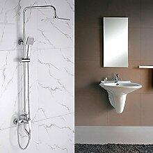 KHSKX Dusche gesetzt Kupfer Armatur Dusche nicht Bad Badeanzüge sauerstoffreiches Wasser mit Temperatur Kontrolle schlanken Duschkopf undich