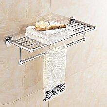 KHSKX Edelstahl Handtuchhalter Badezimmer Regal Aufhängen dicker Badezimmer Handtuchhalter Handtuchhalter