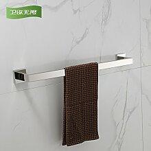 KHSKX Edelstahl Handtuchhalter Handtuchhalter Badezimmer Badezimmer Regal 600*50mm